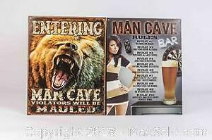 Two Man Cave Tin Signs