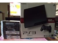 PS3 Console in good condition with one dualshock controller along with 12 games