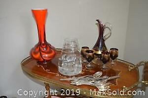 Vintage Glassware, Vases and Liquor Set A