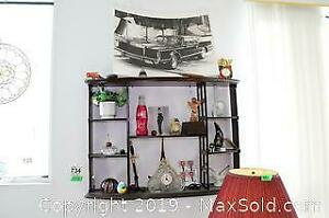 Wall Shelf Contents And Waterford Crystal Clock C