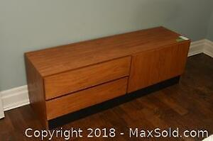 Teak Veneer Dresser and Night Table C