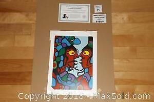 Native Ojibway Norval Morrisseau SHAMAN AND APPRENTICE unframed print with COA