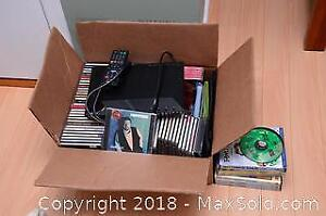 Sony Blu Ray And Assorted Cds And DVDs A