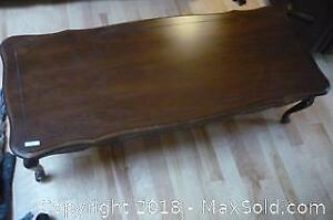 Solid wood Canadian made coffee table. -B
