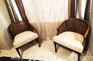 2 club chairs with side table