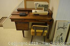 Sewing Machine and Chair B