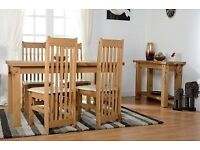 NEW Solid Block dining table get it today only £139