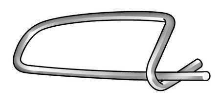 Zoro Select 2Ujg6 Safety Pin,Zinc,3/64 X1 1/2L,Pk100