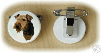 Welsh Terrier Dog Fine Bone China Ring Clip by Starprint - Auto combined postage
