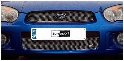 ZUNSPORT BLACK FULL SPAN LOWER GRILLE for SUBARU IMPREZA BLOB EYE 2003-05