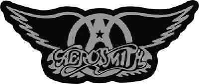 Aerosmith - Chrome and Black Logo Sticker
