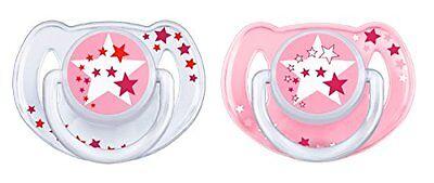 Philips Baby Avent Babykörperpflege Zahnpflege Schnuller für die Nacht Pink