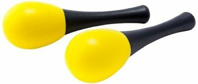 D'Luca Kids 4.75 inches Small Plastic Yellow Maracas