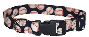 Navy-Baseball-Designer-Dog-Collar-with-leash-set-option