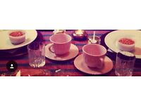 Light pink tea pot set