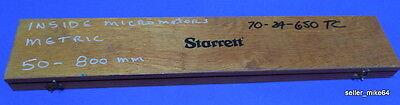 Starrett Metric Micrometer Set 50-800 Mm Incomplete Set Wcase Set B Pzb