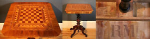 German Marquetry Card Table, 1800's