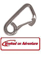 Snap Hooks Asymmetric 316 Stainless x 4  12 mm