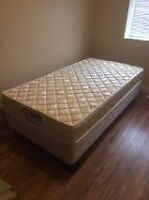 Twin Bed and Box Spring With Plastic Supports