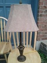 Antique Table Lamp with Ultrasuede Shade!!