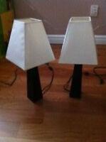 Espresso-color table lamps