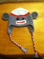 Crocheted Character Hats.