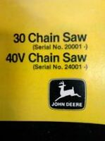 John Deere 30V 40V Chainsaw Operators Manual