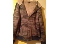 Men's full fur lined fleece jacket size large only £10.00