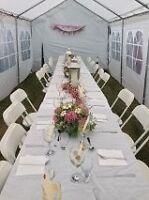 DIY event tent rental.  $150/ 4 day max