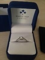 Canadian cut diamond engagement ring.