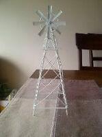 2 decorative small windmills