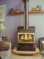 Free Standing Propane Stove/Fireplace - Insta-Flame by Majesta