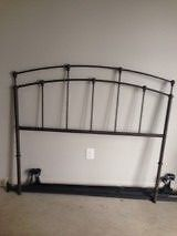 Double wrought iron headboard and bed rails $20