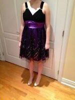 Formal Black and Purple Dress