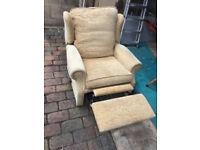 Manual Sandy Gold colour recliner armchair