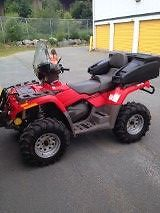 Used 2004 Can-Am Outlander Max XT with Plow