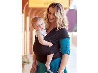 Black Moby Wrap Baby Carrier