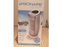 Bionaire Mini Desk Tower Fan, 35 W - Silver. Model BMT014D