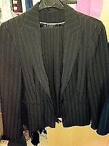 Ladies Dorothy Perkins Black Trouser suit, (size 12 jacket & size 14 trousers) P&P £3.20 via PayPal