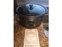 Morphy Richards slow cooker 6.5l brushed - model 48705