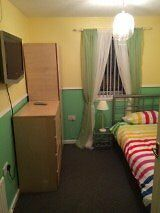 Bright modern single room.