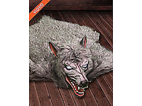 Werewolf Rug 5.5 Foot Animated Motion/Sound Activated Halloween Decoration
