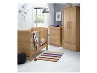 Mamas And Papa's Rialto Full Nursery Furniture including book case