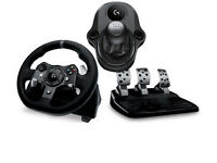 Logitech G920 Wheel, Pedals, Shifter and Wheelstand Pro.