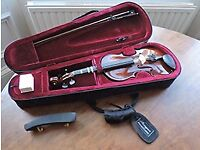 Half Size Stringers Violin, bow, case, chin rest and rosin