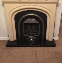 Sandstone Fire Surround with Cast Iron Gas Fire Insert