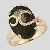 New ladies gold ring with smokey quartz North Shore Greater Vancouver Area image 1