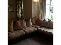 Corner Sofa from DFS with large footstool