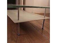 Glass & Metal Frame Quality Stylish Coffee Table Good Condition