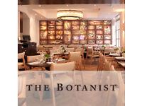 Food Runner – The Botanist, Sloane Square – Immediate Start